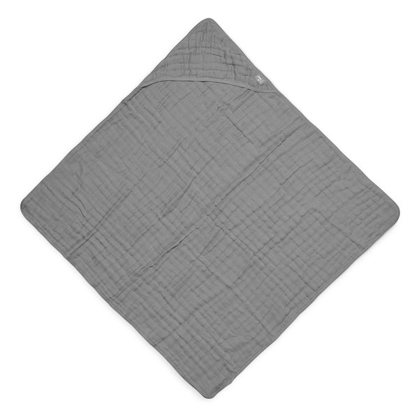 Jollein Jollein - Badcape 75x75cm - Wrinkled - Storm Grey