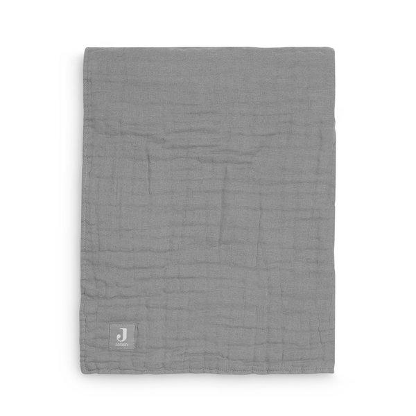 Jollein Jollein - Deken Wieg 75x100cm - Wrinkled - Storm Grey