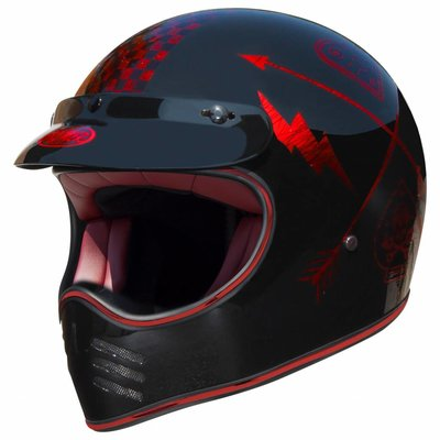 Premier Trophy MX Helm NX Red Chromed