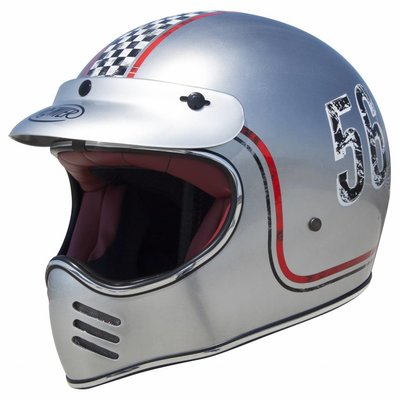 Premier Trophy MX Helm FL Silver Chromed