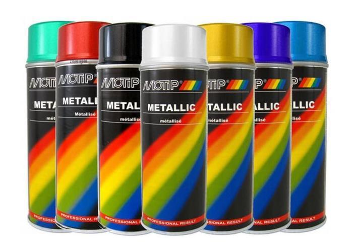Motip Metallic Verf 400ML (Verschillende Kleuren!!)