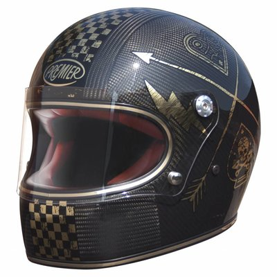 Premier Trophy Helm Carbon NX Gold Chromed