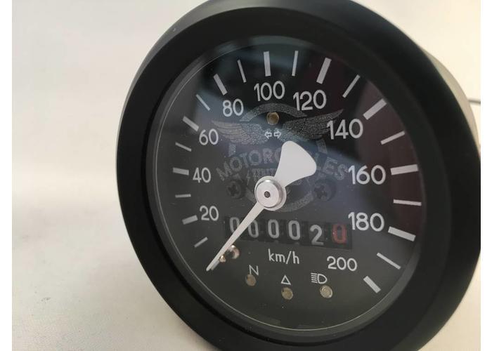 60MM BMW Kilometerteller Zwart + 4 Extra Functies