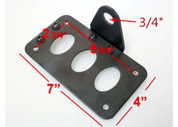 Sidemount + Verlichting Type Bullet Black