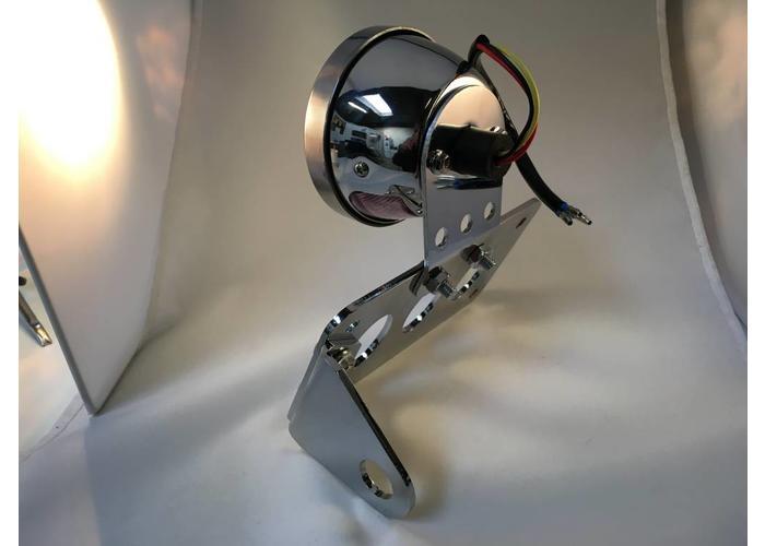 Sidemount + Verlichting Type Steampunk Chrome