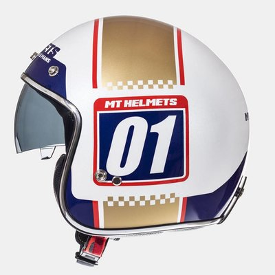 MT Helmets Le Mans SV Numberplate Wit