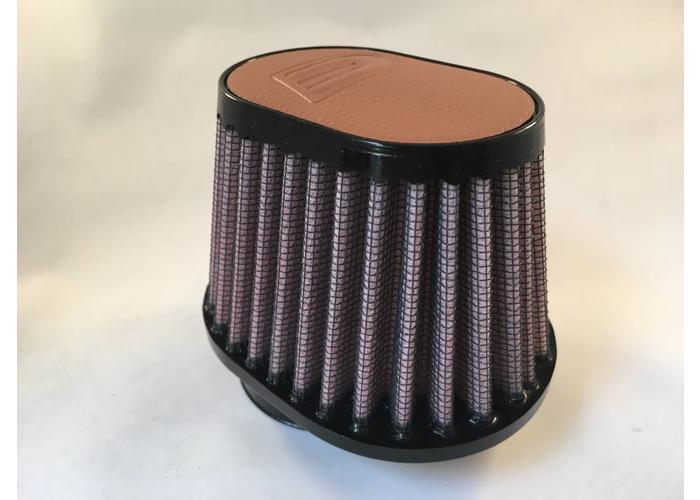 DNA 44MM Ovaal Filter Lederen Top Licht Bruin