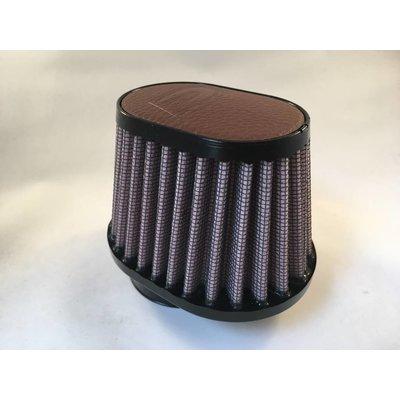 DNA 44MM Ovaal Filter Lederen Top Donker Bruin