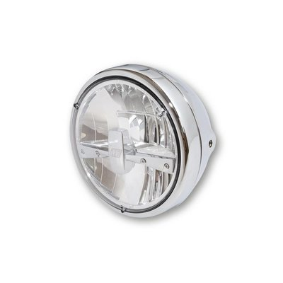 "Highsider 7"" Clear Chrome Koplamp RENO 3"