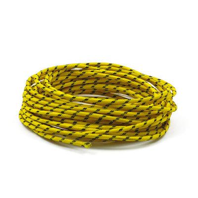 Gevlochten Kabel 3MM Geel 7,5 Meter