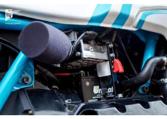 "BMW K75 ""Blue Bastard"" door Wrench Kings"