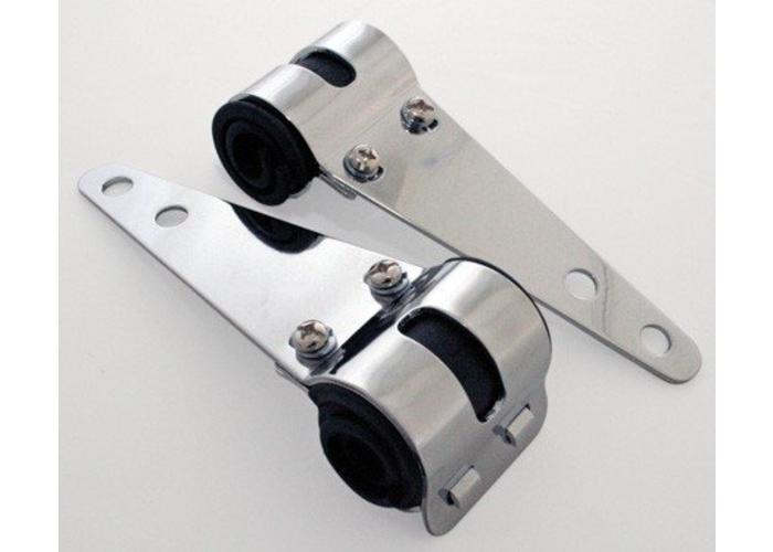 30mm - 38mm Chrome Koplamp Steunen