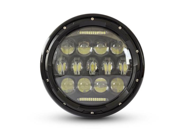 "7"" Multi Projector LED Koplamp Black"