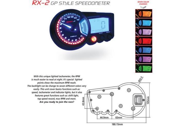 KOSO RX2 Multifunctionele Meter