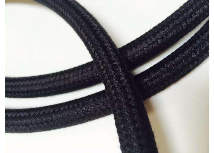 75CM Gevlochten Textiel Benzine Leiding 8MM Zwart