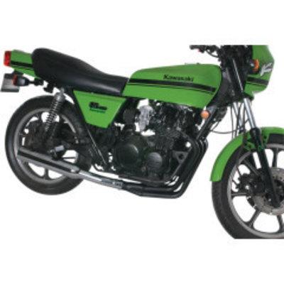 MAC Exhausts Kawasaki KZ550 4-in-1 uitlaatsysteem Megafoon Zwart / Chroom