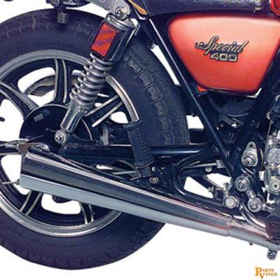 MAC Exhausts Yamaha XS 400 Geluiddemper Megaphone 2-In-2