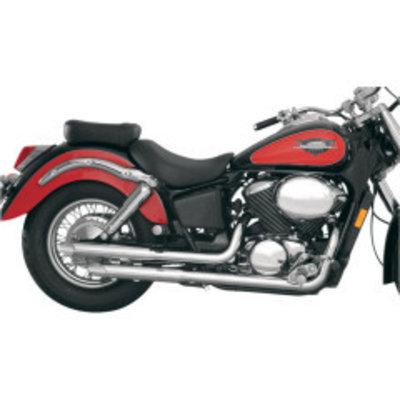 MAC Exhausts Honda 750 Shadow Ace Staggered Slash Cut uitlaatsysteem
