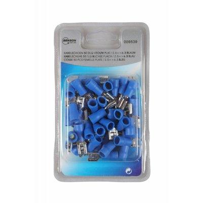 Kabelschoen 50 Dlg Vrouw Plat // 2.5=>6.3 Blauw
