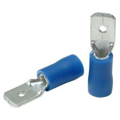 Kabelschoen 50 Dlg Man Plat // 2.5=>6.3 Blauw