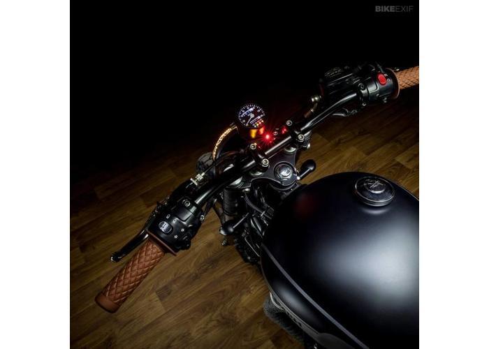 """Biltwell Thruster 22MM / 7/8"""" Handvatten Bruin"""