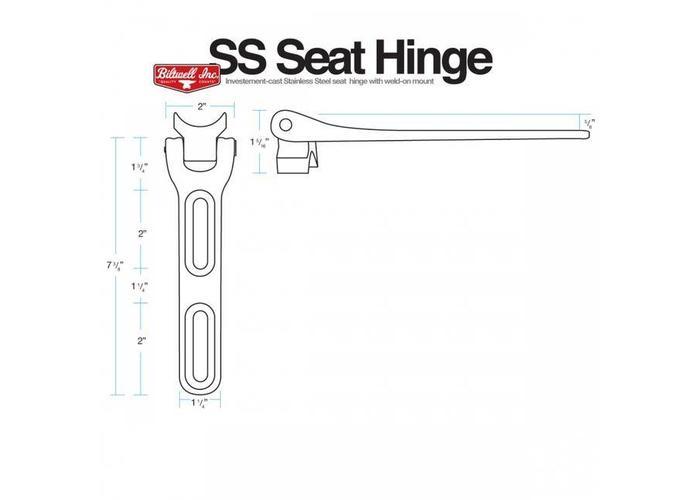 Biltwell Seat Hinge Kit Polished RVS