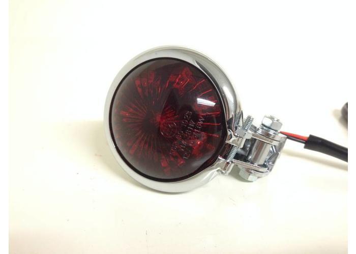 Rood Chrome Achterlicht LED Universeel Cafe Racer type Bates Style