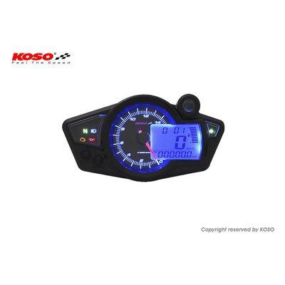KOSO RX1N GP-stijl (zwart / blauw achtergrondlicht)