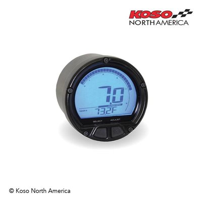 KOSO D55 DL-02R Toerenteller / Thermometer (LCD Display, 20000 RPM)