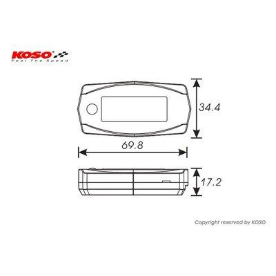 KOSO Mini 4 - A / F-verhouding Lambda-meter