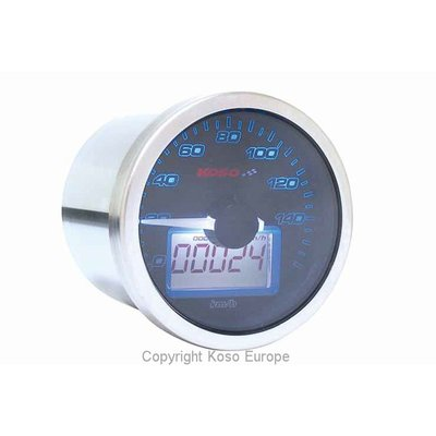 KOSO D55 Eclipse Style Snelheidsmeter (max. 160 kmh + mph)