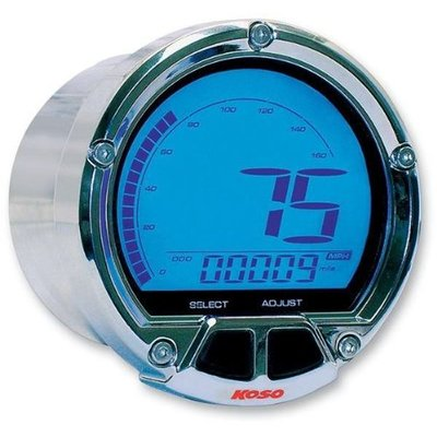 KOSO (max 160mph/260 kmh) D55 DL-02S Snelheidsmeter LCD Display