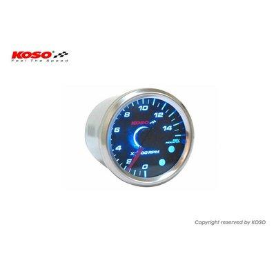 KOSO (max. 15000 RPM) GP Style D48 Toerenteller Zwart