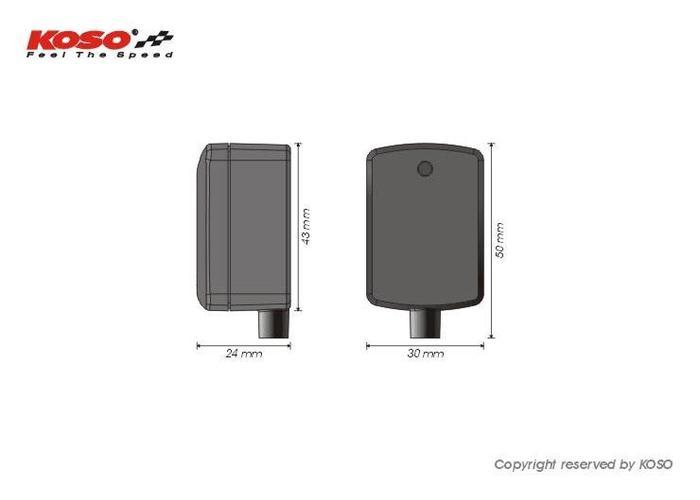 KOSO Mini Style Gear Indicator Met Schakellampje