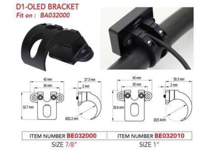 """KOSO Bracket for D1 OLED 7/8"""" Handlebar"""