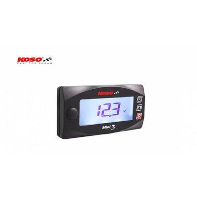 KOSO Volt & Clock Mini 3 (met achtergrondverlichting)