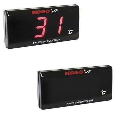 KOSO Thermometer SUPER SLANK rood