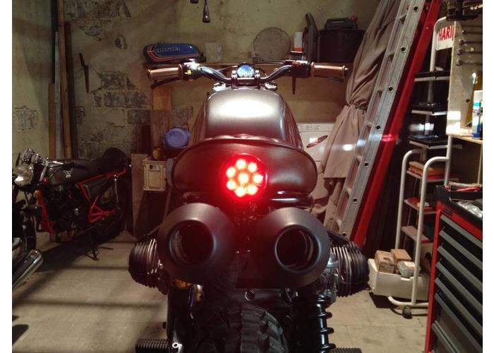 Shin Yo Achterlicht LED Universeel Rood Cafe Racer type Bates Style