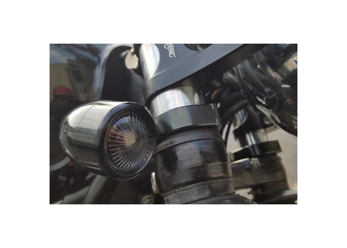 Motone 35mm Voorvork Klemmen Knipperlicht Zwart