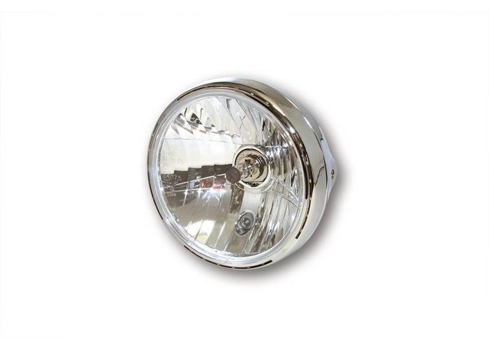 "Highsider 7"" Clear Chrome Koplamp RENO 2"