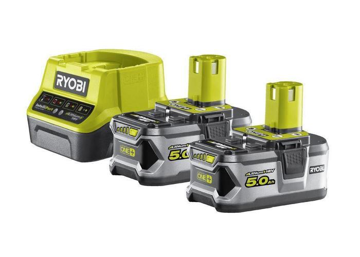 Ryobi ONE+ 2 x 18V 5.0 Ah Lithium Accu Set + Lader RC18120-250
