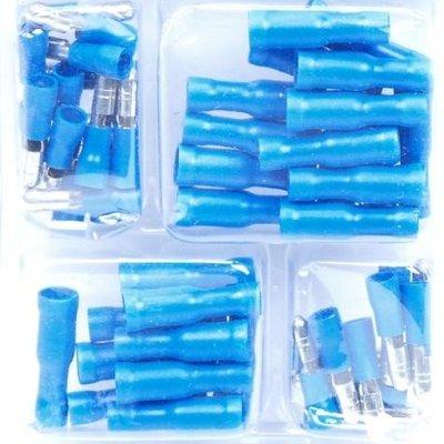 50-delige Kabelschoen Assortiment Blauw