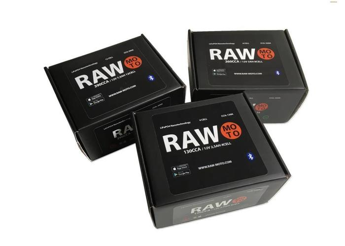 Raw Moto 130CCA SMART Bluetooth Lithium Accu #1