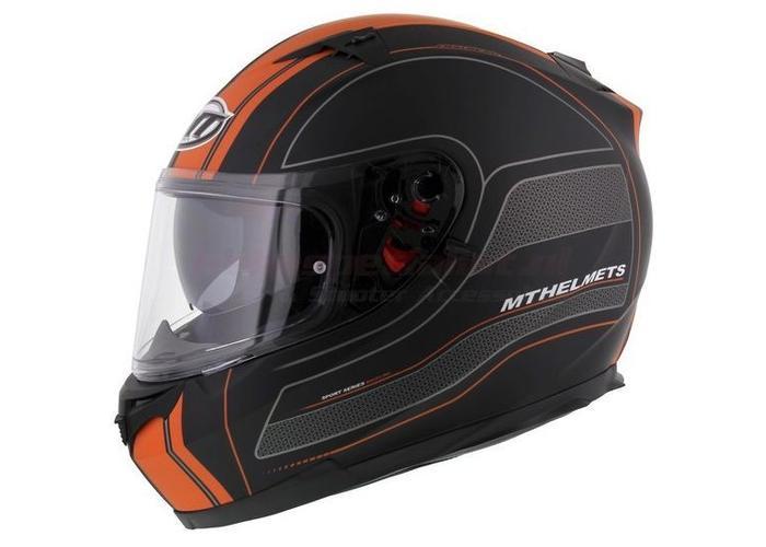MT Helmets Blade SV Raceline  Zwart/Oranje