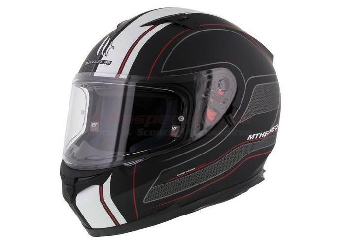 MT Helmets Blade SV Raceline Fluor Zwart/Rood