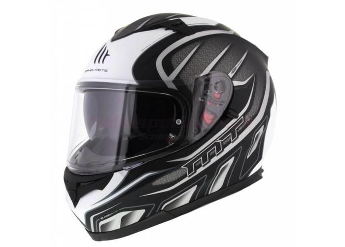 MT Helmets Blade SV Alpha Mat  Zwart/Grijs/Wit