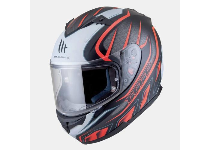 MT Helmets Blade SV Alpha Mat  Zwart/Oranje