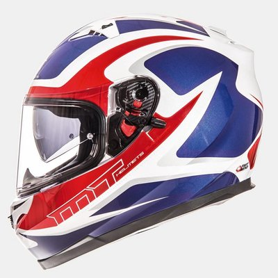 MT Helmets Blade SV Morph Wit/Rood/Blauw