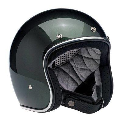 Biltwell Bonanza 3/4 Open Face Helmet Sierra Green