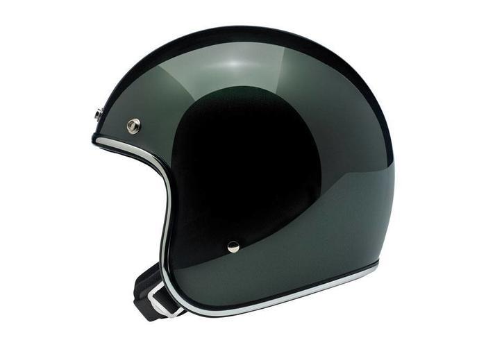 Biltwell Bonanza 3/4 Open Face helm Sierra groen